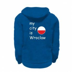 Kid's zipped hoodie % print% My city isWroclaw