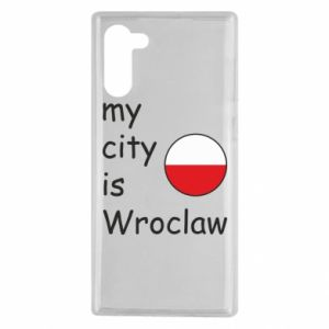 Samsung Note 10 Case My city isWroclaw