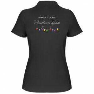 Women's Polo shirt My favorite color is Christmas Lights