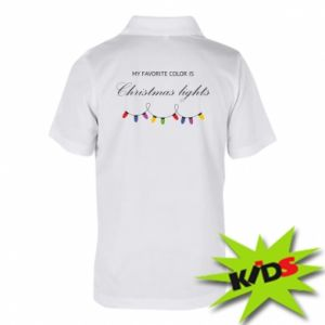 Children's Polo shirts My favorite color is Christmas Lights