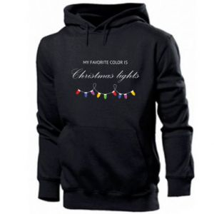 Men's hoodie My favorite color is Christmas Lights