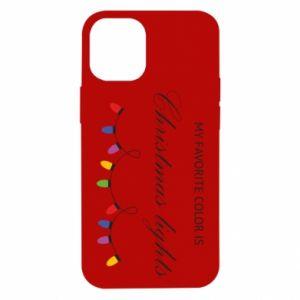 Etui na iPhone 12 Mini My favorite color is Christmas Lights