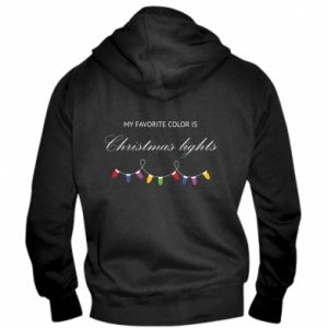 Men's zip up hoodie My favorite color is Christmas Lights
