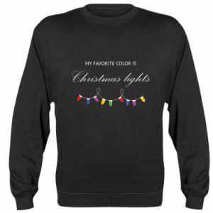 Bluza (raglan) My favorite color is Christmas Lights