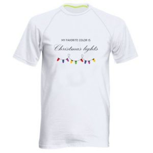 Men's sports t-shirt My favorite color is Christmas Lights