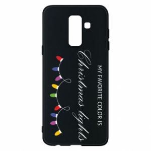 Phone case for Samsung A6+ 2018 My favorite color is Christmas Lights