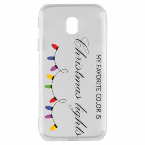 Phone case for Samsung J3 2017 My favorite color is Christmas Lights