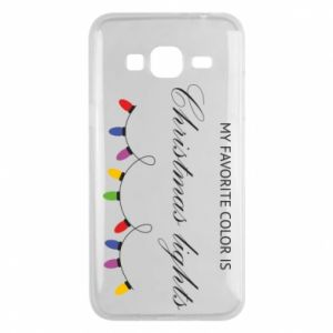 Phone case for Samsung J3 2016 My favorite color is Christmas Lights