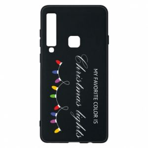 Phone case for Samsung A9 2018 My favorite color is Christmas Lights