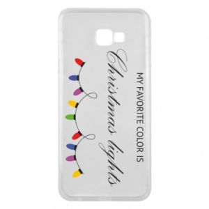 Phone case for Samsung J4 Plus 2018 My favorite color is Christmas Lights