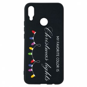 Phone case for Huawei P Smart Plus My favorite color is Christmas Lights
