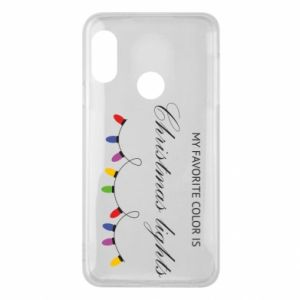 Phone case for Mi A2 Lite My favorite color is Christmas Lights