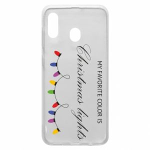 Phone case for Samsung A20 My favorite color is Christmas Lights