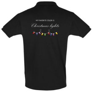Men's Polo shirt My favorite color is Christmas Lights