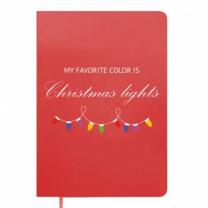 Notepad My favorite color is Christmas Lights