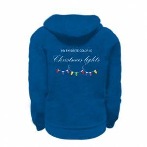 Bluza na zamek dziecięca My favorite color is Christmas Lights