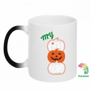 Chameleon mugs My first halloween