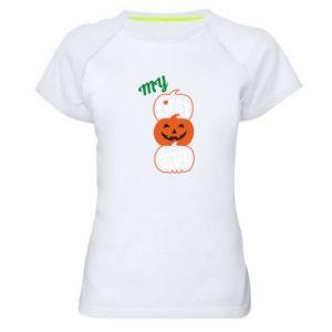 Koszulka sportowa damska My first halloween