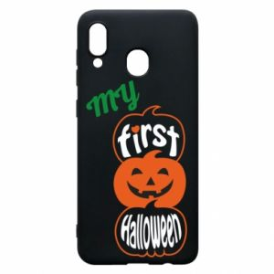 Phone case for Samsung A30 My first halloween - PrintSalon