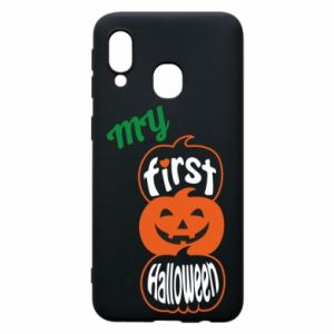 Phone case for Samsung A40 My first halloween - PrintSalon