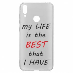 Etui na Huawei Y7 2019 My life is the best that I have