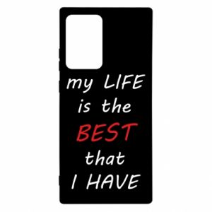 Etui na Samsung Note 20 Ultra My life is the best that I have