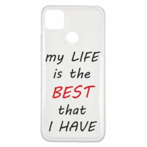 Etui na Xiaomi Redmi 9c My life is the best that I have