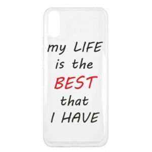 Etui na Xiaomi Redmi 9a My life is the best that I have