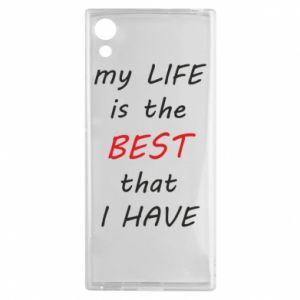 Etui na Sony Xperia XA1 My life is the best that I have