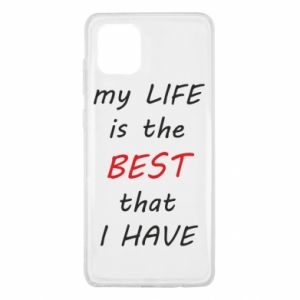 Etui na Samsung Note 10 Lite My life is the best that I have