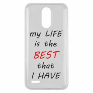 Etui na Lg K10 2017 My life is the best that I have