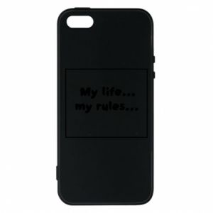 Etui na iPhone 5/5S/SE My life... my rules...