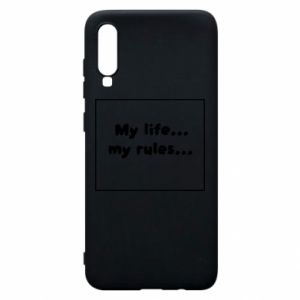 Samsung A70 Case My life... my rules...