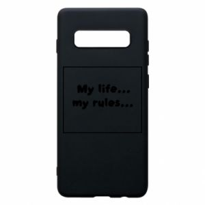 Samsung S10+ Case My life... my rules...