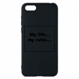 Huawei Y5 2018 Case My life... my rules...