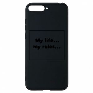 Huawei Y6 2018 Case My life... my rules...