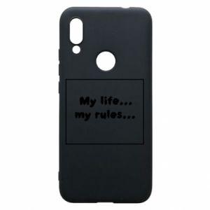 Xiaomi Redmi 7 Case My life... my rules...