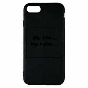 Etui na iPhone 8 My life... my rules...