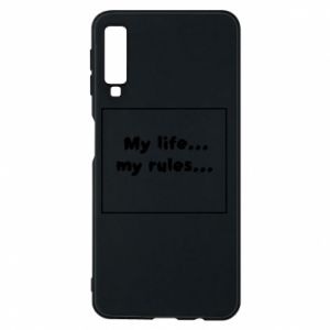 Samsung A7 2018 Case My life... my rules...