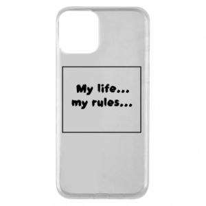 Etui na iPhone 11 My life... my rules...