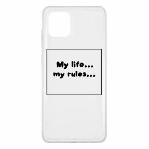 Samsung Note 10 Lite Case My life... my rules...