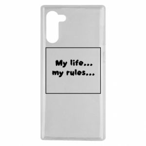 Samsung Note 10 Case My life... my rules...