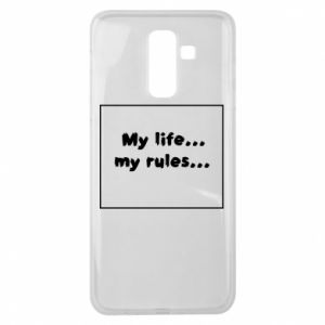 Samsung J8 2018 Case My life... my rules...