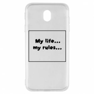Samsung J7 2017 Case My life... my rules...