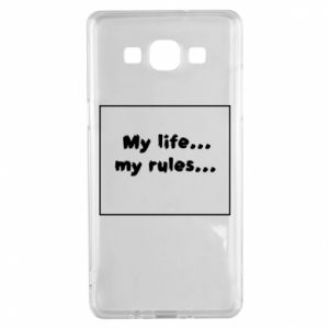 Samsung A5 2015 Case My life... my rules...