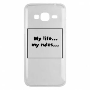 Samsung J3 2016 Case My life... my rules...