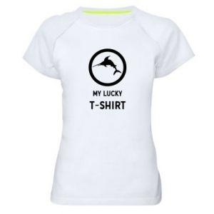 Damska koszulka sportowa My lucky t-shirt