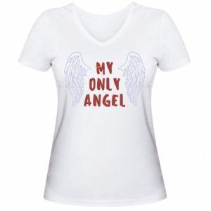 Damska koszulka V-neck My only angel