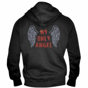Męska bluza z kapturem na zamek My only angel