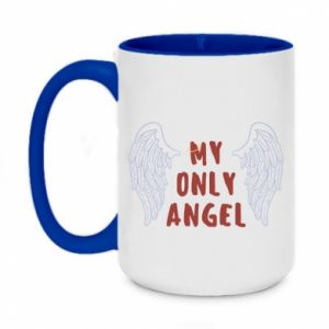 Two-toned mug 450ml My only angel